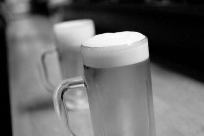 白黒のビール