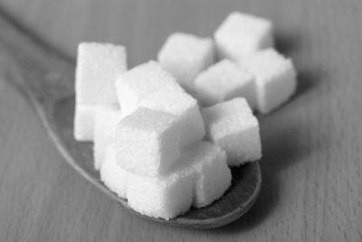 白黒の角砂糖